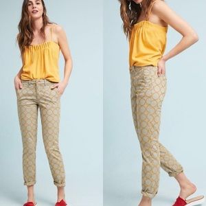 Chino by Anthro Relaxed Circle-Embroidered Pants